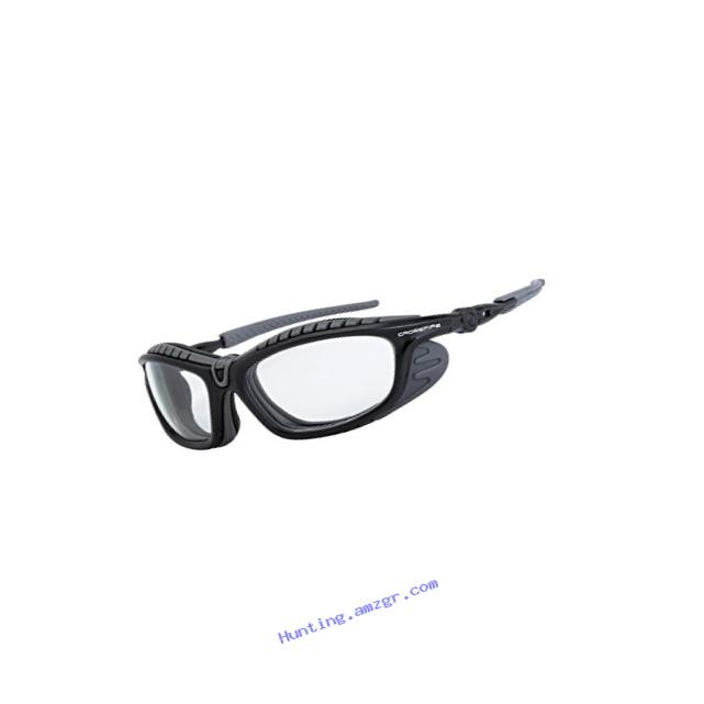 Crossfire Eyewear 26164 AF Eclipse Foam Lined Safety Glasses with Gun Metal Frame and Clear Anti-Fog Lens